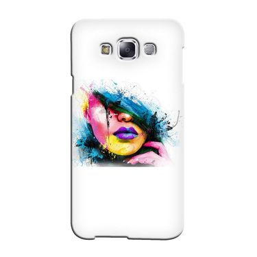 Snooky 36453 Digital Print Hard Back Case Cover For Samsung Galaxy E5 - White