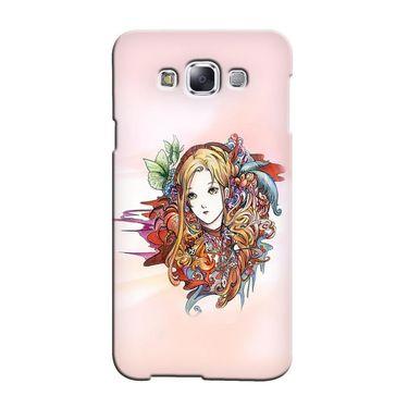 Snooky 36458 Digital Print Hard Back Case Cover For Samsung Galaxy E5 - Multicolour