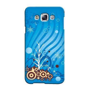 Snooky 36462 Digital Print Hard Back Case Cover For Samsung Galaxy E5 - Blue