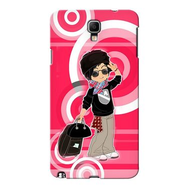 Snooky 36629 Digital Print Hard Back Case Cover For Samsung Galaxy Note 3 Neo - Rose Pink