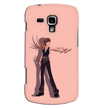 Snooky 38172 Digital Print Hard Back Case Cover For Samsung Galaxy S Duos S7562 - Mehroon