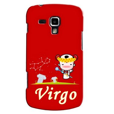 Snooky 38188 Digital Print Hard Back Case Cover For Samsung Galaxy S Duos S7562 - Red
