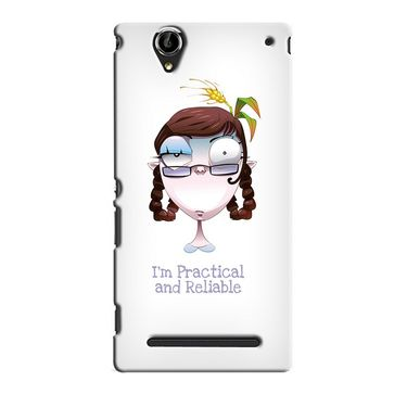 Snooky 36896 Digital Print Hard Back Case Cover For Sony Xperia T2 Ultra - White