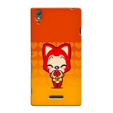 Snooky 37011 Digital Print Hard Back Case Cover For Sony Xperia T3 - Orange