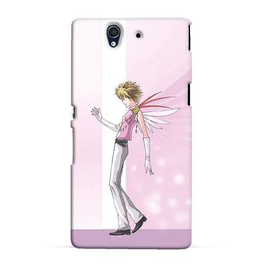 Snooky 37021 Digital Print Hard Back Case Cover For Sony Xperia Z C6602 - Pink