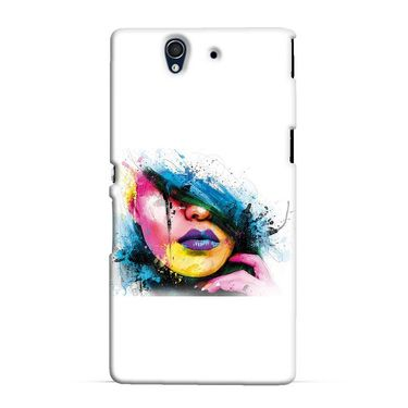 Snooky 37053 Digital Print Hard Back Case Cover For Sony Xperia Z C6602 - White