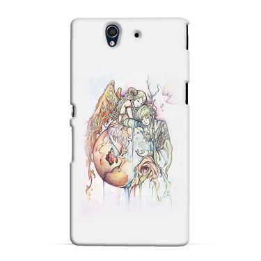 Snooky 37056 Digital Print Hard Back Case Cover For Sony Xperia Z C6602 - Multicolour