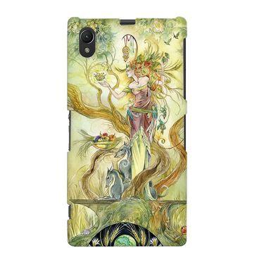 Snooky 37107 Digital Print Hard Back Case Cover For Sony Xperia Z1 - Green