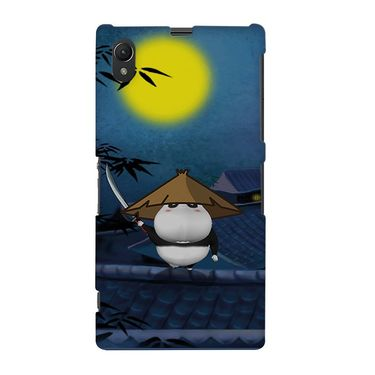 Snooky 37110 Digital Print Hard Back Case Cover For Sony Xperia Z1 - Blue