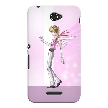 Snooky 37671 Digital Print Hard Back Case Cover For Sony Xperia E4 - Pink