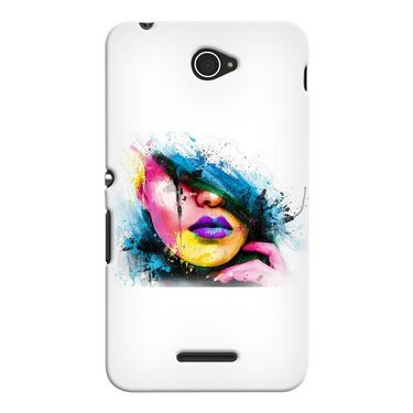Snooky 37703 Digital Print Hard Back Case Cover For Sony Xperia E4 - White