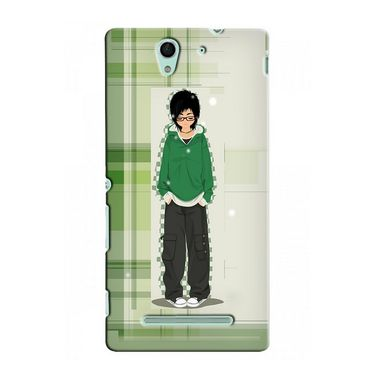 Snooky 37725 Digital Print Hard Back Case Cover For Sony Xperia C3 - Green