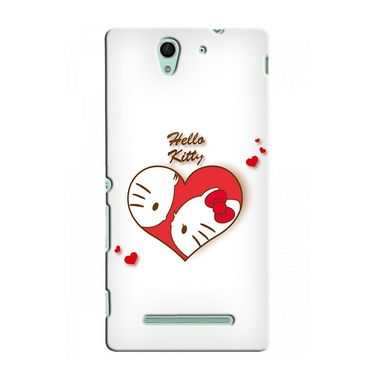 Snooky 37750 Digital Print Hard Back Case Cover For Sony Xperia C3 - White