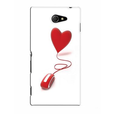 Snooky 37802 Digital Print Hard Back Case Cover For Sony Xperia M2 Dual - White