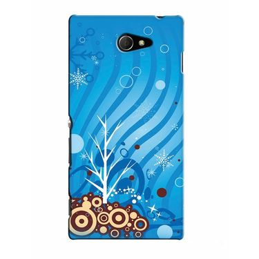 Snooky 37812 Digital Print Hard Back Case Cover For Sony Xperia M2 Dual - Blue