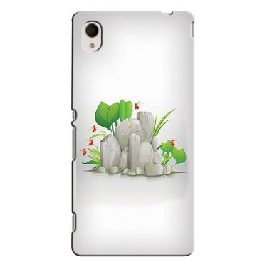 Snooky 37855 Digital Print Hard Back Case Cover For Sony Xperia M4 AQUA DUAL - White