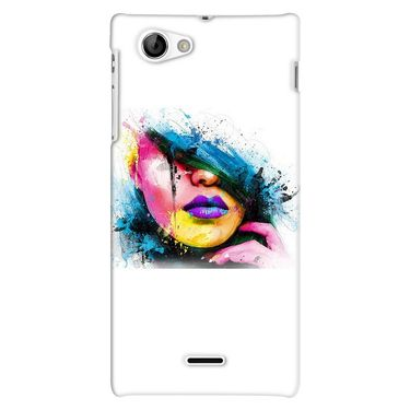 Snooky 38703 Digital Print Hard Back Case Cover For Sony Xperia J - White
