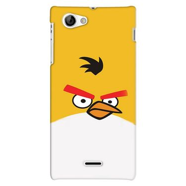 Snooky 38713 Digital Print Hard Back Case Cover For Sony Xperia J - Yellow