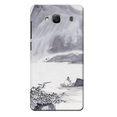 Snooky 35995 Digital Print Hard Back Case Cover For Xiaomi Redmi 2s - Grey