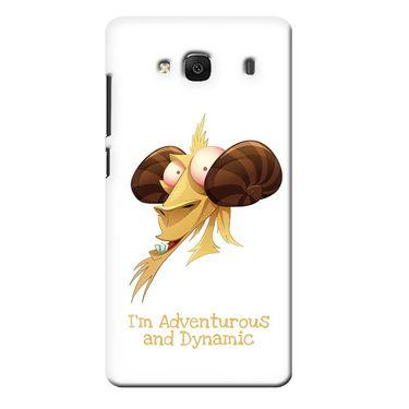 Snooky 36028 Digital Print Hard Back Case Cover For Xiaomi Redmi 2s - White
