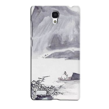 Snooky 36045 Digital Print Hard Back Case Cover For Xiaomi Redmi Note - Grey