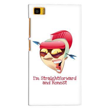 Snooky 38394 Digital Print Hard Back Case Cover For Xiaomi MI3 - White