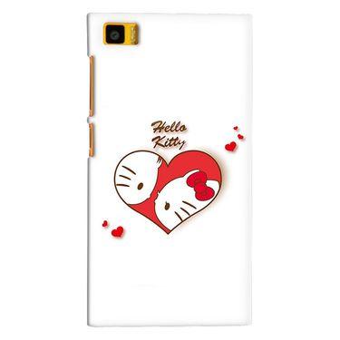 Snooky 38400 Digital Print Hard Back Case Cover For Xiaomi MI3 - White