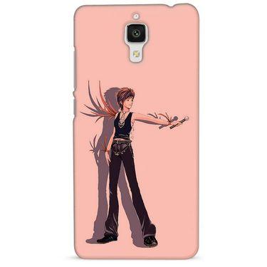 Snooky 38422 Digital Print Hard Back Case Cover For Xiaomi MI 4 - Mehroon
