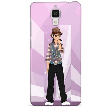Snooky 38423 Digital Print Hard Back Case Cover For Xiaomi MI 4 - Pink