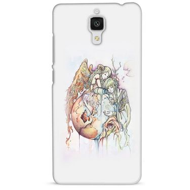 Snooky 38456 Digital Print Hard Back Case Cover For Xiaomi MI 4 - Multicolour