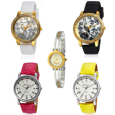 Pack of 5 Branded Stylish Watches_106