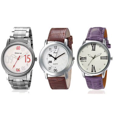Pack of 3 Branded Stylish Watches_109