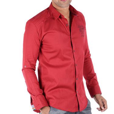 Bendiesel Plain Cotton Shirt_Bdc092 - Red