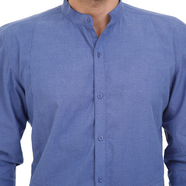 Bendiesel Plain Cotton Shirt_Bdcc020 - Dark Blue