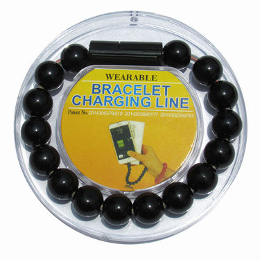 Flashmob C416CC Bracelet Type Micro USB Charging Cable - Black