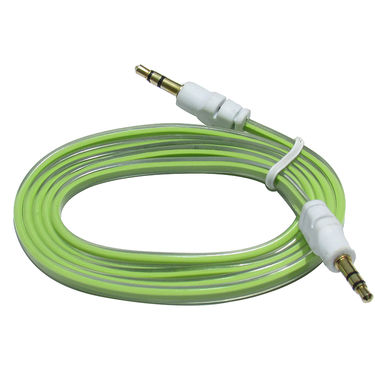 Flashmob C428AU Jelly Flat Aux Cable - Green