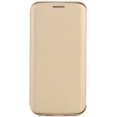 Flashmob C340FC Leather Finish Flip Cover For Samsung Galaxy S6 Edge - Golden