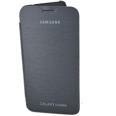 Flashmob C392FC Satin Finish Flip Cover For Samsung Galaxy  Grand 3 G7200 - Black