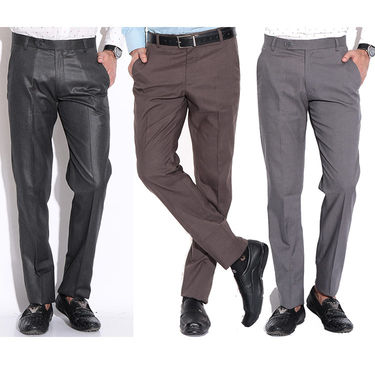 Pack of 3 Formal Trousers_110211