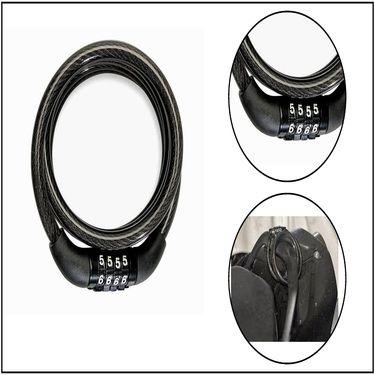 Combo Of Bike LED Flash Wheel Light + Bike Palm Support + Multipurpose Holding Stretch Chord + Number Cable lock + Disk Break Lock._WSR26815-1