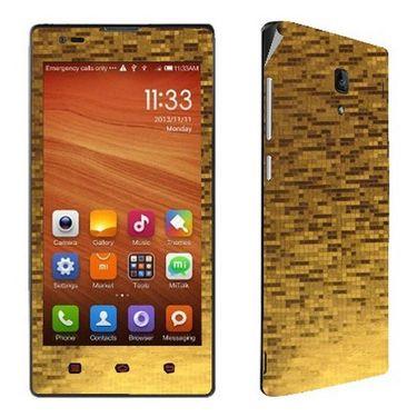 Snooky 18644 Mobile Skin Sticker For Xiaomi Redmi 1s - Gold