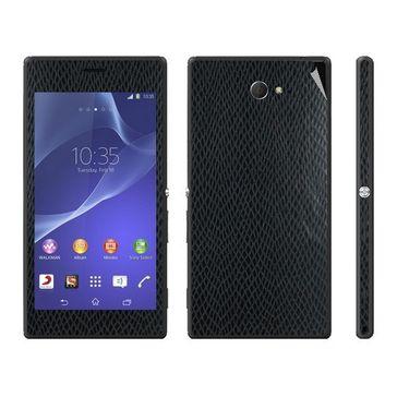 Snooky 18777 Mobile Skin Sticker For Sony Xperia M2 - Black