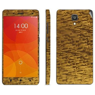 Snooky 19247 Mobile Skin Sticker For Xiaomi Mi4 - Golden