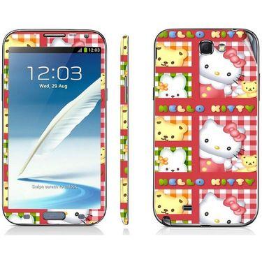Snooky 39462 Digital Print Mobile Skin Sticker For Samsung Galaxy Note 2 N7100 - Pink