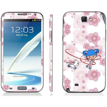 Snooky 39472 Digital Print Mobile Skin Sticker For Samsung Galaxy Note 2 N7100 - White