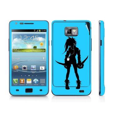 Snooky 39526 Digital Print Mobile Skin Sticker For Samsung Galaxy S2 I9100 - Blue