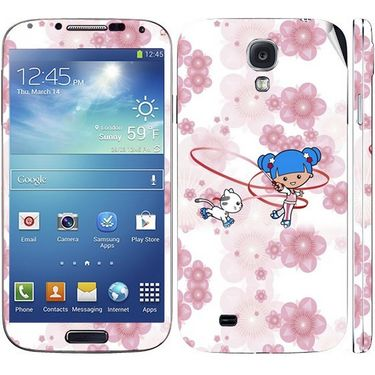 Snooky 39556 Digital Print Mobile Skin Sticker For Samsung Galaxy S4 I9500 - White