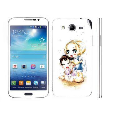 Snooky 39601 Digital Print Mobile Skin Sticker For Samsung Galaxy Mega 5.8 Gt 18281 - White