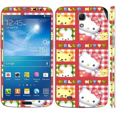 Snooky 39606 Digital Print Mobile Skin Sticker For Samsung Galaxy Mega 6.3 - Pink