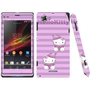 Snooky 39667 Digital Print Mobile Skin Sticker For Sony Xperia L S36h C2105 - Purple